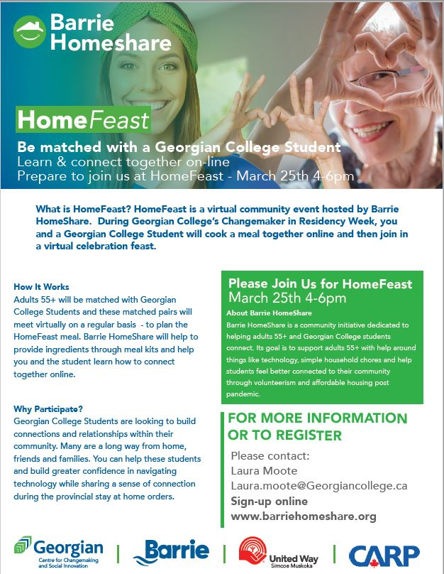 Home Feast Barrie Event Poster - March 25